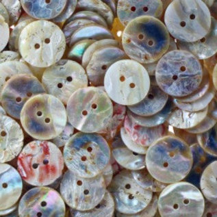 Mother of Pearl Buttons - White - 23mm