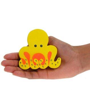 Painted Octopus 8cm Yellow/Orange