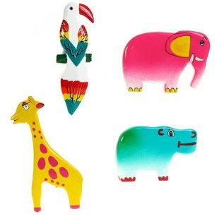 Painted Zoo Animals 8cm.