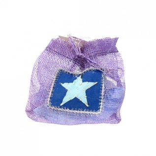 Sinamay Pouch with 4 Soaps