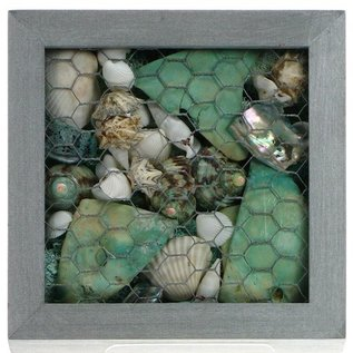 Silver Box Frame with Shells and Pot Pourri
