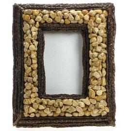 "Pebble and Cream Stick Frame 8X6"""