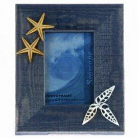Blue Photo Frame with Seashells Motif 10X15
