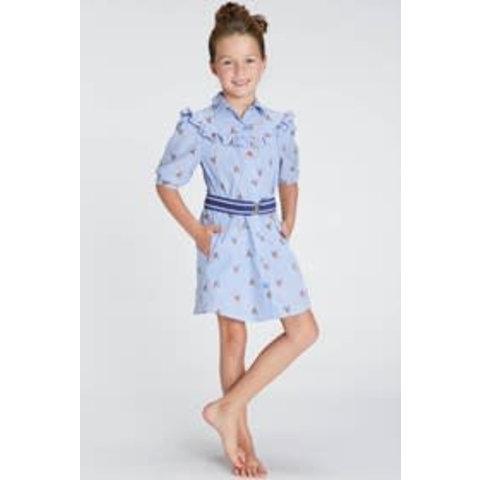 81120618 blue bay girls kleed karo en riem