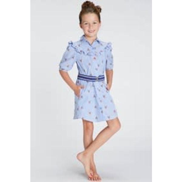BLUE BAY GIRLS 81120618 blue bay girls kleed karo en riem