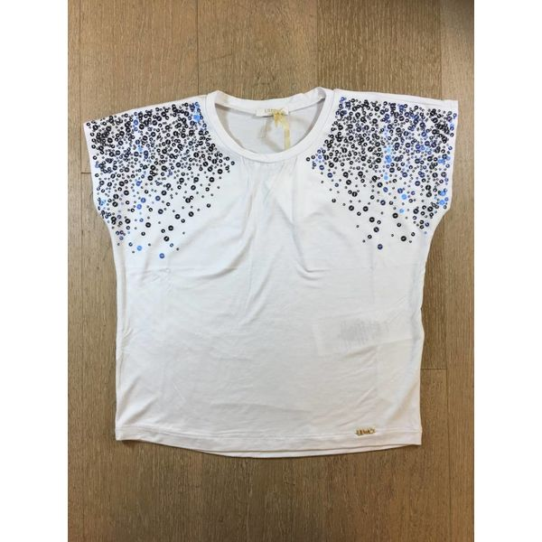 Liu Jo junior G18022j0004 t shirt m/c paillettes
