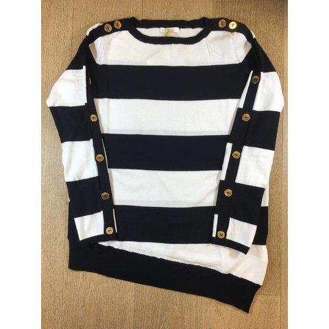 G18111ma36a maxi maglia chiusa m/l stripes