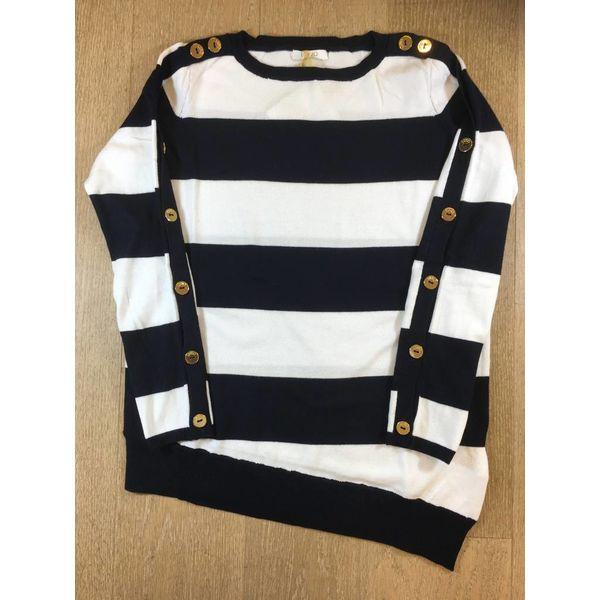 Liu Jo junior G18111ma36a maxi maglia chiusa m/l stripes