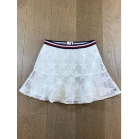 Tommy Hilfiger girls KG03502 peppy embroidered mesh skirt