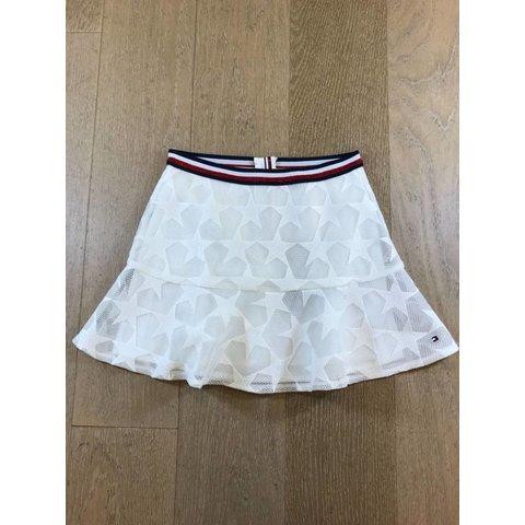 KG03502 peppy embroidered mesh skirt