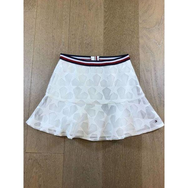 Tommy Hilfiger girls KG03502 peppy embroidered mesh skirt