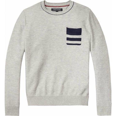 KB03904 herringbone pocket cn sweater