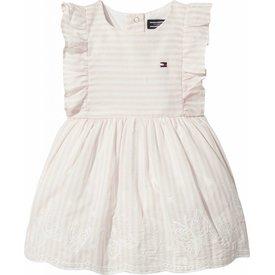 Tommy hilfiger newborn KN00785 alert stripe baby dress slvls