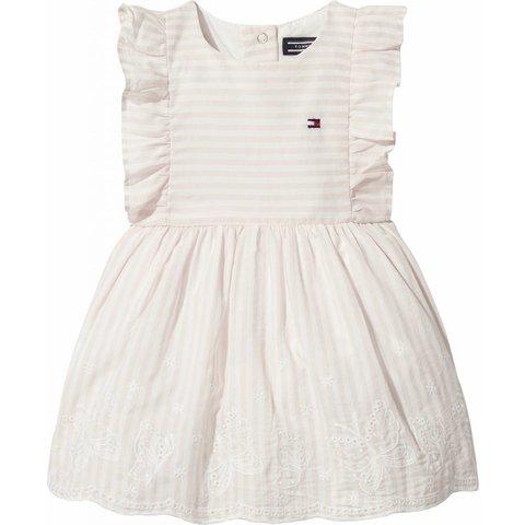 KN00785 alert stripe baby dress slvls
