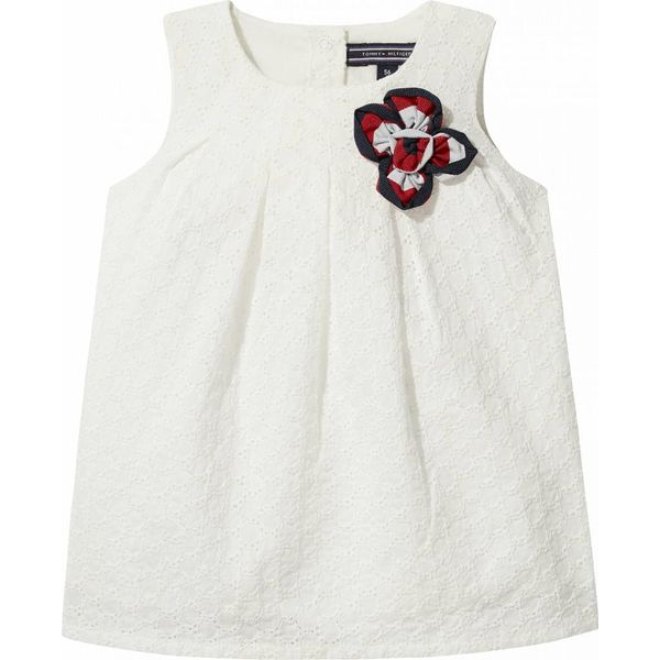 Tommy hilfiger newborn KN00787 adorable broidery baby dress slvls
