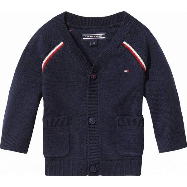 Tommy hilfiger newborn KN00793 global stripe baby boy cardigan