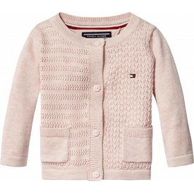 Tommy hilfiger newborn KN00794 sweet texture baby girl cardigan