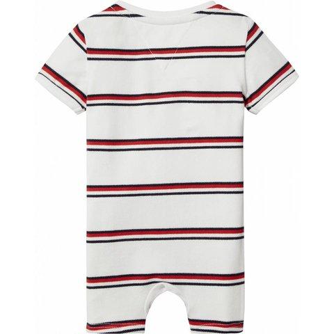 KN00808 bright rwb striped baby shortall s/s