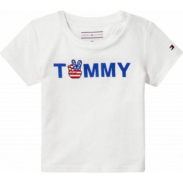 Tommy hilfiger newborn KN00813 perky logo baby boy tee s/s