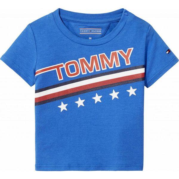 Tommy hilfiger newborn KN00816 bright global stripe baby boy tee s/s