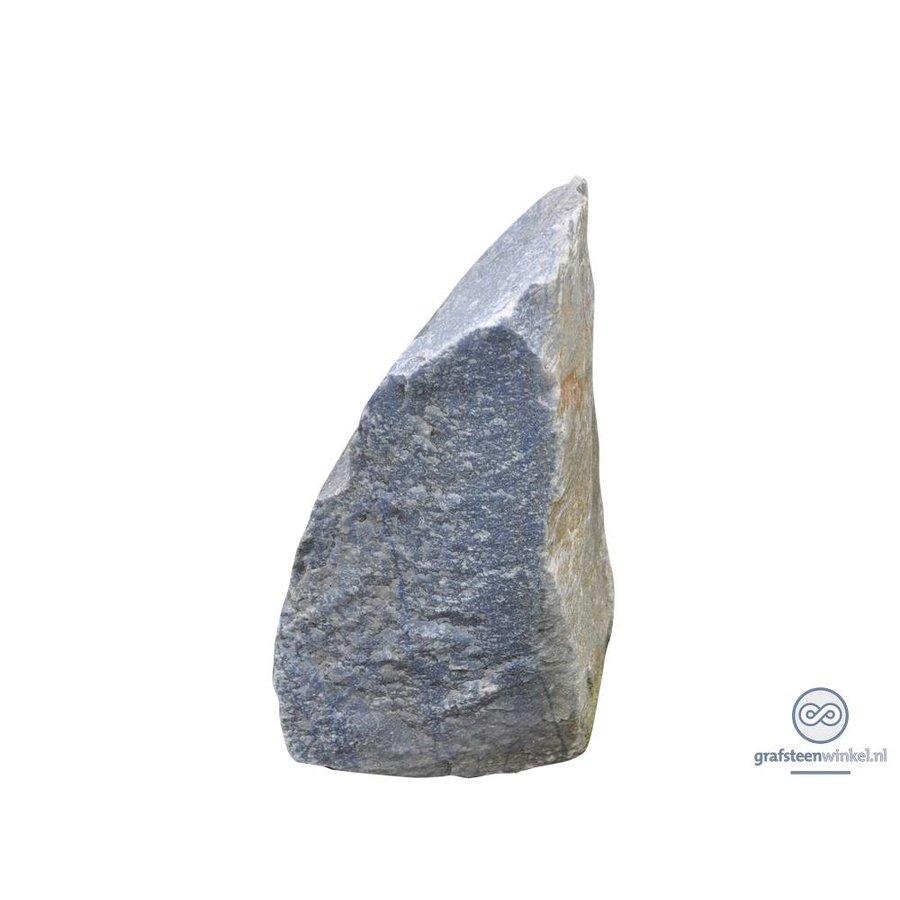 Grijze natuurlijke gruwe grafsteen-1