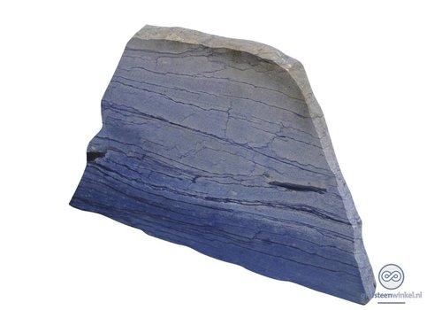 Blauwe grafsteen