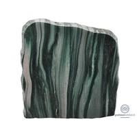 thumb-groene/ licht grijze grafsteen met ruwe zijden-2