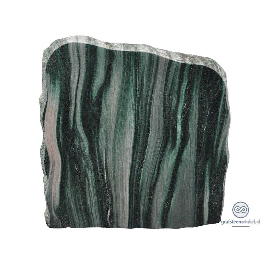 groene/ licht grijze grafsteen met ruwe zijden-2