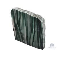 thumb-groene/ licht grijze grafsteen met ruwe zijden-1