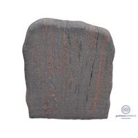 thumb-Grijs/ bruine grafsteen met ruwe afwerking-1