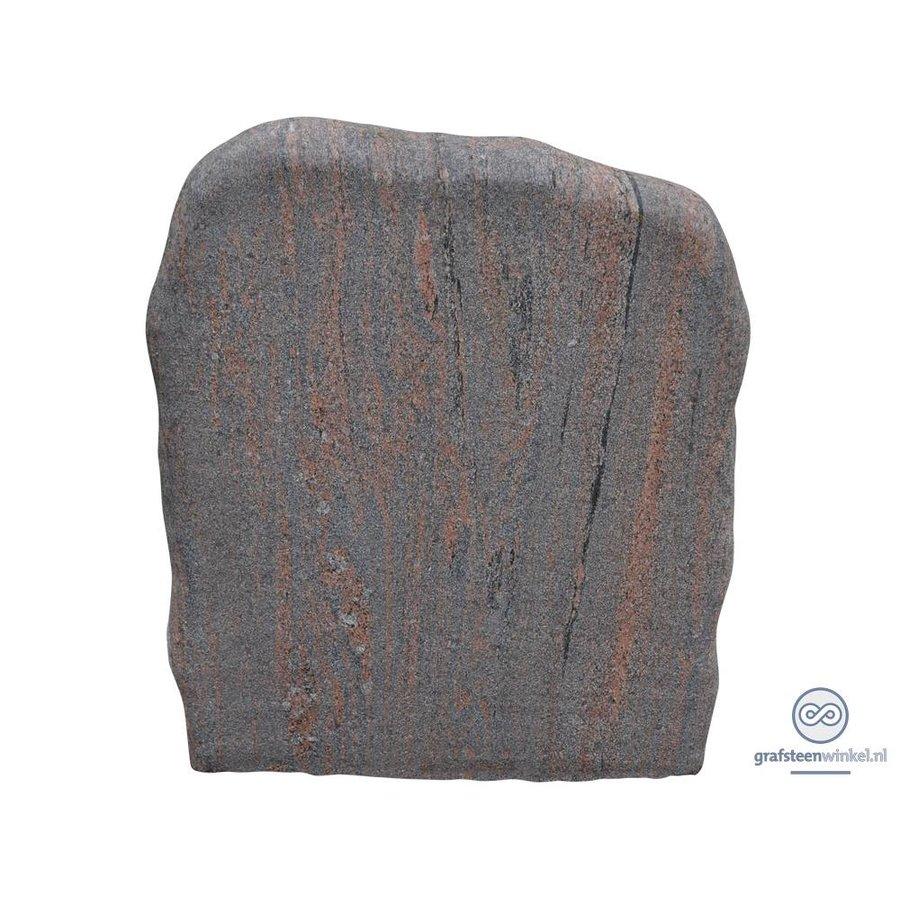 Grijs/ bruine grafsteen met ruwe afwerking-1