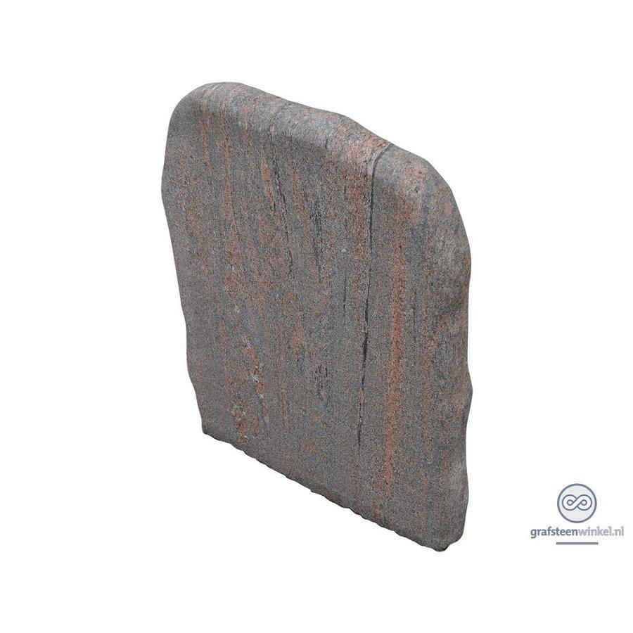 Grijs/ bruine grafsteen met ruwe afwerking-2