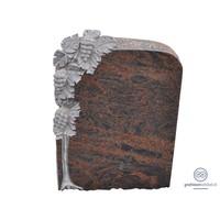 thumb-Bruin/ zwarte grafsteen met gebeeldhouwde druivenplant-1