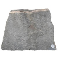roze kwarsieten grafsteen met aflopende zijkant