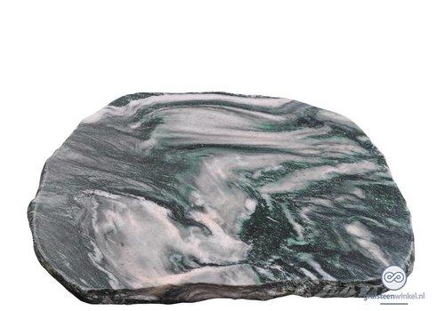 Groenachtige liggende grafsteen