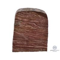 thumb-Rode grafsteen met grove, natuurlijke afwerking-2