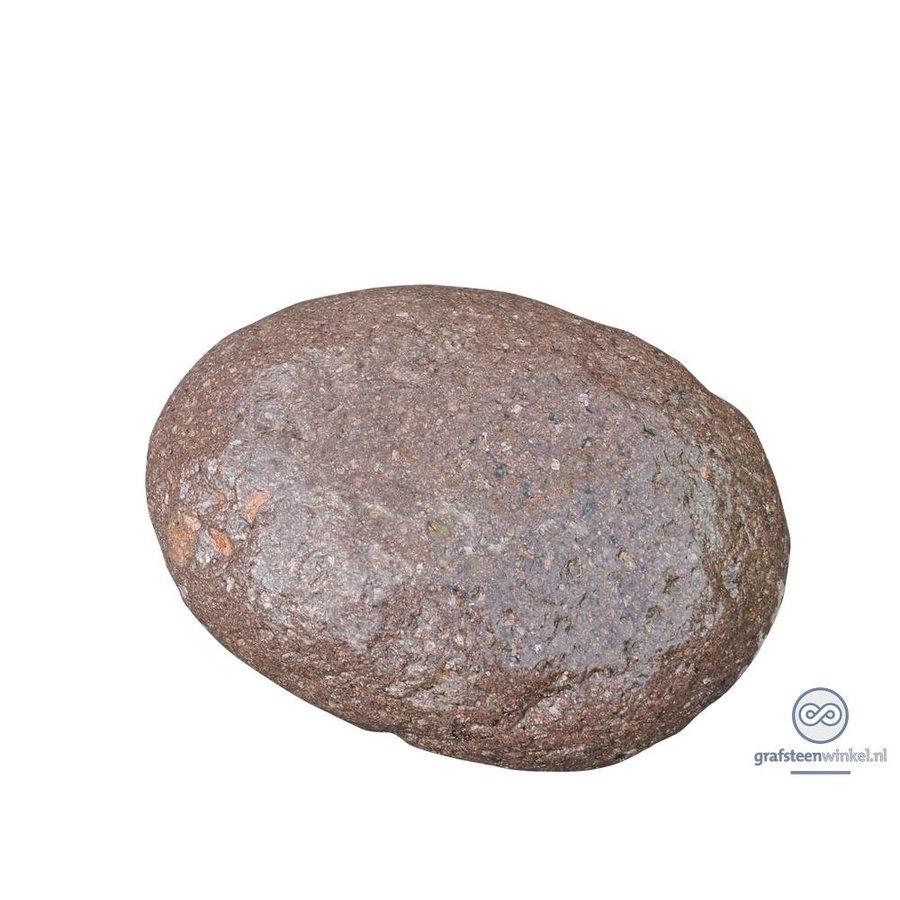 Rood/ bruine ovalen grafsteen-2