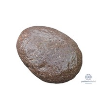 thumb-Rood/ bruine ovalen grafsteen-1