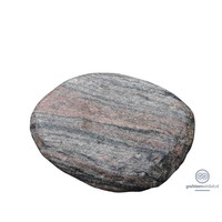 thumb-Platte, ronde grafsteen van roze graniet-1