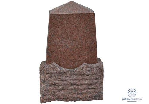 Pyramide vormige grafsteen