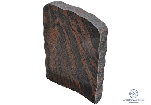 Zwart/ bruine grafsteen
