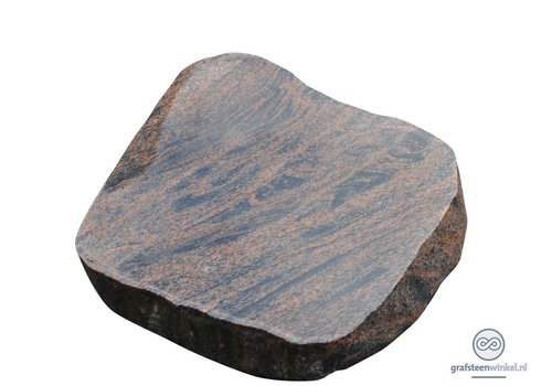 Bruin/ zwarte grafsteen