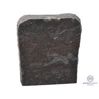 thumb-Grijze grafsteen met afgeronde en getrommelde bovenzijde-2
