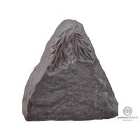 thumb-Roze granieten driehoek vormige grafsteen met gebeeldhouwde bladeren-1
