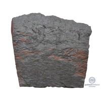 thumb-Zwarte getrommelde lei grafsteen-1