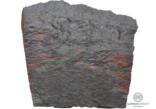 Zwarte lei grafsteen