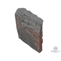 thumb-Zwarte getrommelde lei grafsteen-2