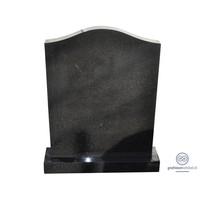 thumb-Zwarte grafsteen met halsvormige bovenzijde-1