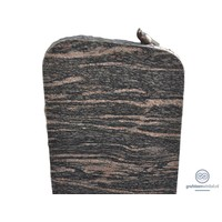 thumb-Zwarte/ bruinachtige grafsteen met duif op bovenzijde-1