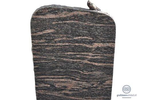 Zwarte/ bruinachtige grafsteen